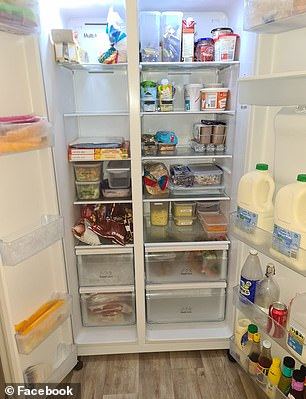 While many keep milk in the door (pictured), this isn't the best place for it as it's actually the warmest part of the fridge