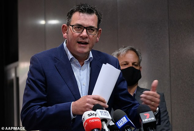 Victorian Premier Daniel Andrews (pictured) defended plunging the entire state into a snap five-day lockdown, as one new locally acquired case of Covid-19 was recorded on Monday