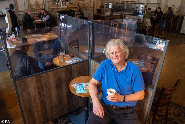 Wetherspoon chairman Tim Martin at the Hamilton Hall pub in London on October 16 last year