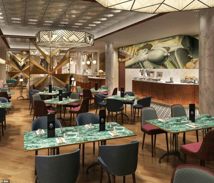 Travellers won't be able to enjoy the spacious bar and dining areas as they will be confined to their rooms for the entire 10-day stay, with airline food left at the door
