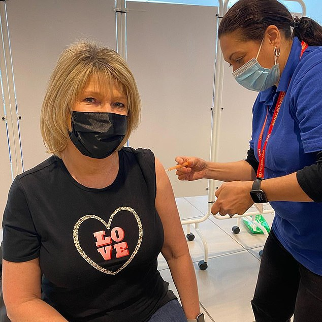Nigella is not the only under-60 celebrity to get booked in for their Covid jab, with This Morning's Ruth Langsford revealing she was vaccinated yesterday