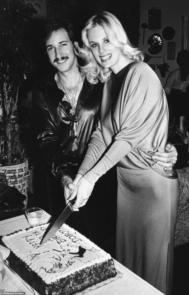 Murder-suicide: In 1980, Snider shot and killed Stratten before turning the gun on himself. They're pictured celebrating her 20th birthday in their LA home where he later murdered her