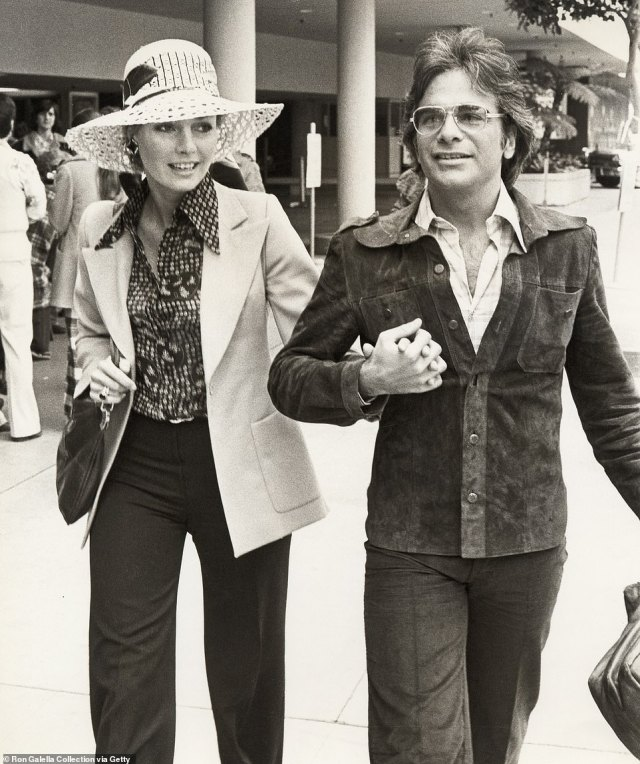 Expanding: Banerjee hired Emmy-winning producer Nick De Noia to choreograph the troupe's tour and live show routines in 1981. De Noia is pictured with his ex-wife Jennifer O'Neill