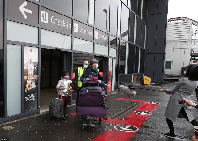 Chun Yong arrived at Edinburgh Airport on Monday morning with his eight-year-old daughter Kiernan, having caught a connecting flight at Dublin from the USA