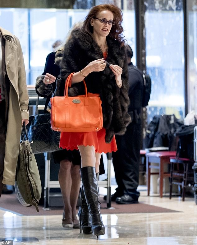 Republican mega-donor Rebekah Mercer is one of Parler's key financial backers who owns a majority stake. She is pictured at Trump Tower in New York back in December 2016