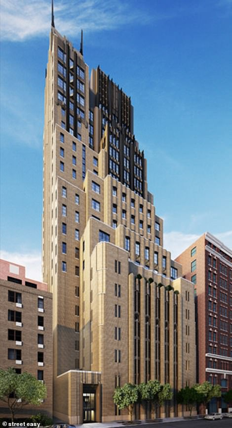 Pictured: The exterior of Walker Tower in Chelsea