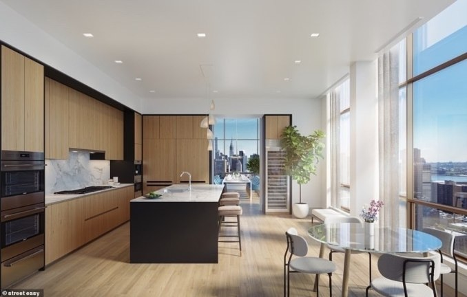 The Tower listing was led by Matthew Mackay of Douglas Elliman, who told Olshan that the buyers were 'local' and first looked at the unit last March over FaceTime as the coronavirus pandemic forced New York City into lockdown