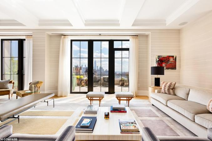 The Walker Tower apartment boasts four bedrooms and four and a half baths across 4,748 square feet