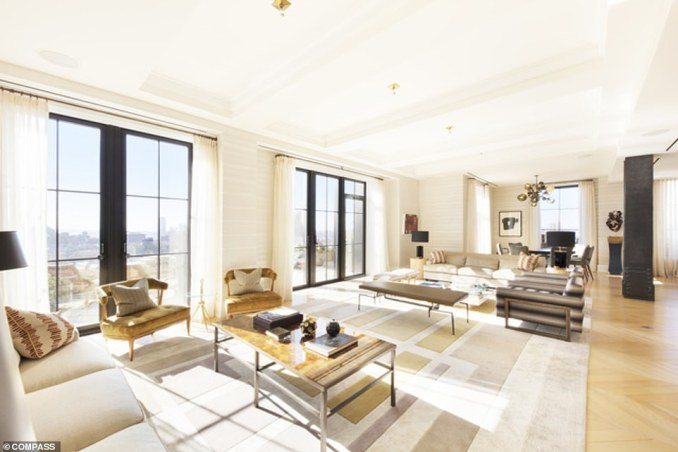 The interior of a duplex at Walker Tower that went under contract last week is shown above