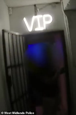 VIP area at the illegal nightclub venue