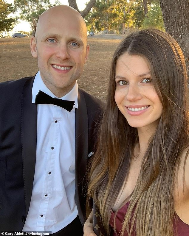 The retired Geelong Cats champion and his wife (pictured) have been documenting their journey online