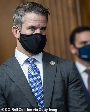 Penned by 11 members of his extended family, Kinzinger was accused by his relatives of being in cahoots with 'the devils army (Democrats and the fake news media)' for publicly opposing the then-president, and requesting the 25th Amendment be invoked.