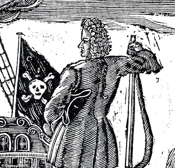 Stede Bonnet, a wealthy land-owner in Barbados who turned to a life of crime in light of marital problems. He was captured and executed in late 1718, a year after becoming a pirate. He was dubbed the 'gentleman' pirate due to his 'hapless' nature