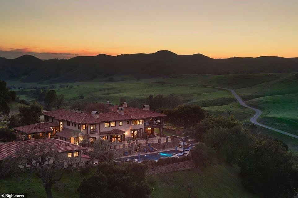 For horse fans: This Californian equestrian ranch includes a six-bedroom house and extends across more than 4,600 acres