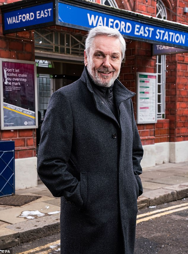Funny: The West End star has said he hopes to 'lighten up' the soap opera with his comedic role as Sonia's father, Terry Cant