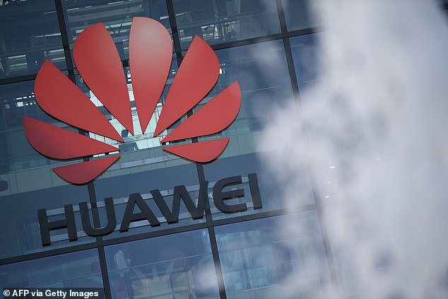 The increase in anti-Chinese sentiment comes after a period of intense scrutiny over Beijing's role in British infrastructure and after a ban on the Chinese telecom company Huawei from providing 5G equipment. Pictured:This file photo taken on January 28, 2020 shows the logo of Chinese company Huawei at their main UK offices in Reading, west of London