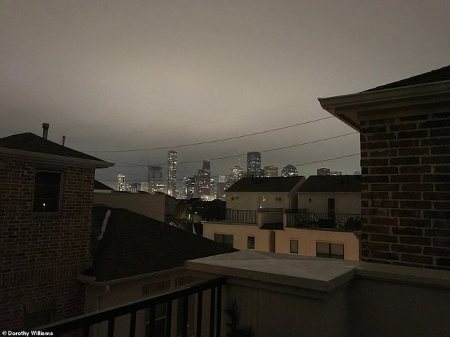 Houston, Texas: View from the First Ward neighborhood on Tuesday.The power breakdown sparked growing outrage and demands for answers over how Texas ¿ whose Republican leaders as recently as last year taunted California over the Democratic-led state's rolling blackouts ¿ failed such a massive test of a major point of state pride: energy independence