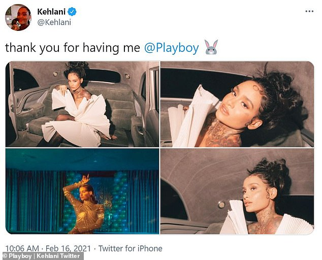 Masculine and feminine: Kehlani opened up about gracing the cover of Playboy on Wednesday in a shoot highlighting her gender fluidity