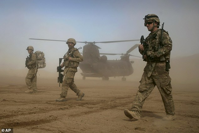 NATO defence chiefs are taking part in two days of talks this week, with the issue of whether to fully withdraw troops from Afghanistan at the top of the agenda (file image)