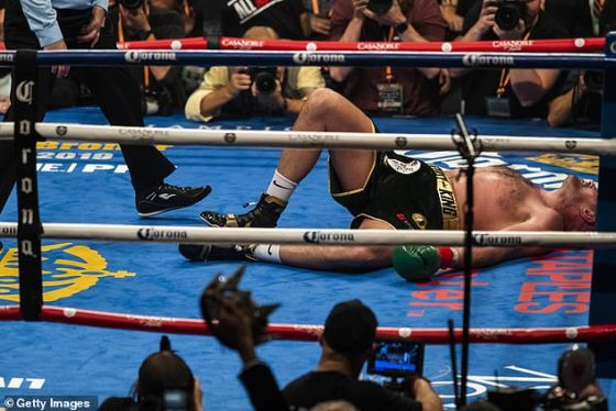 Wilder was hard hit by Fury in the dramatic final round of their first fight back in 2018