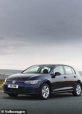 The latest Volkswagen Golf Mk8 model