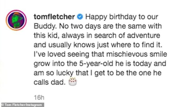 'So Happy': McFly (35) star shared a series of footage of her son's birthday celebration concluding that his son