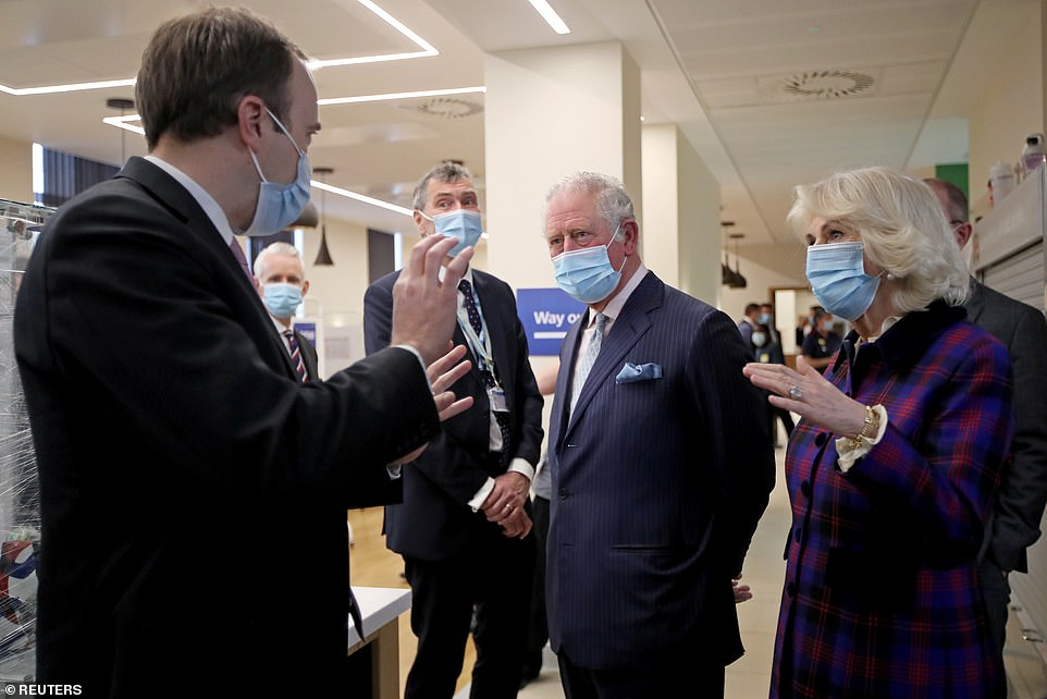 Philip's hospitalisation is not being treated as an emergency and his son Prince Charles and his wife Camilla continued to carry out their first royal duties of the year, meeting volunteers taking part in clinical vaccine trials in Birmingham