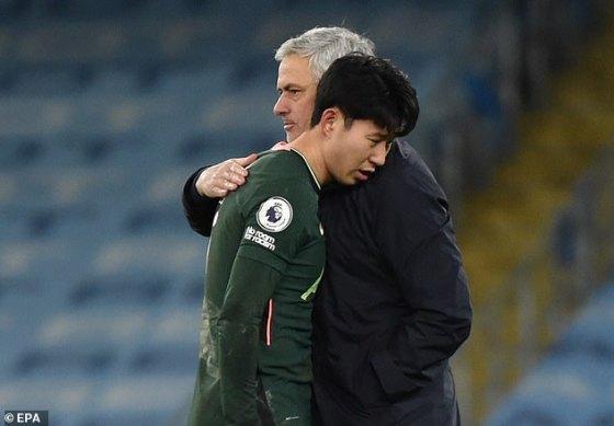 The son (right) has led Jose Mourinho (left) this season alongside Harry Kane