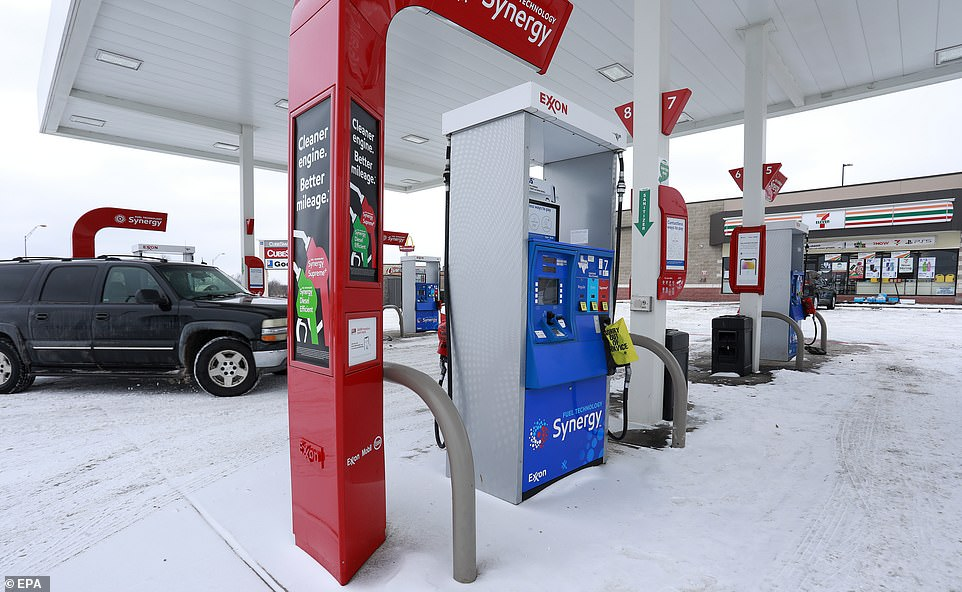 Fort Worth, Texas:Gas stations such as this 7Eleven/Exxon on Highway 377 can not get deliveries of fuel, having run out on Sunday and not expecting another shipment until next week