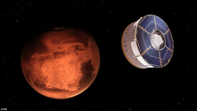 NASA's Perseverance rover is set to land on Mars today (concept image) to search for signs of life and although the mission has been years in the making, the red planet has been part of our culture for thousands of years