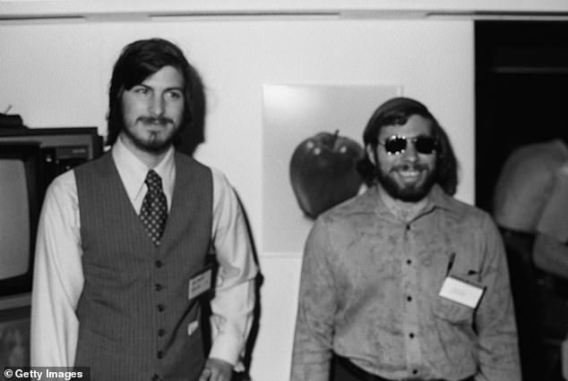The paperwork for the unspecified position dates from a year before Mr Jobs joined then video game start-up Atari as a technician and worked alongside Steve Wozniak. The duo would go on to found the Apple Computer Company, releasing their first machine, the Apple-1, just two years later. Pictured, Steve Jobs and Steve Wozniak at theWest Coast Computer Fair in 1977