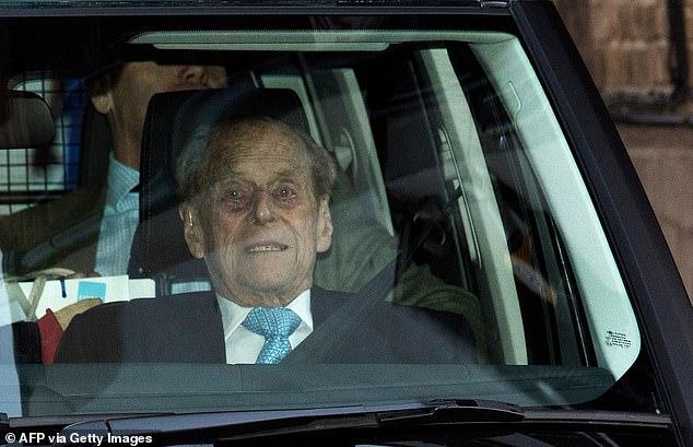 Duke of Edinburgh leaves the King Edward VII hospital in west London on December 24, 2019
