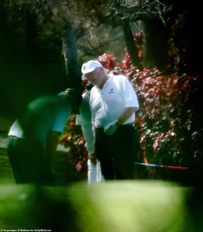BACK AT IT: President Donald Trump was back at his West Palm Beach Trump International Golf Club Thursday after popping his head up publicly on Wednesday to mourn the loss of conservative radio great Rush Limbaugh