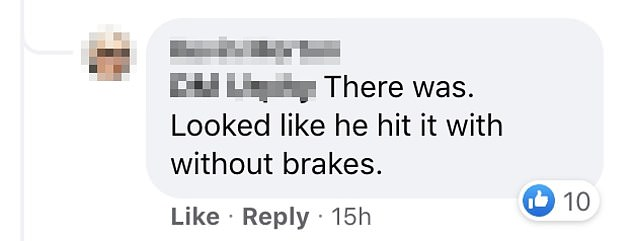 Video of the crash was uploaded to Facebook where it has divided social media users on who was in the wrong
