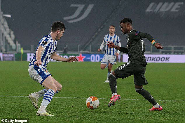 Amad Diallo made his debut for Manchester United against Real Sociedad on Thursday