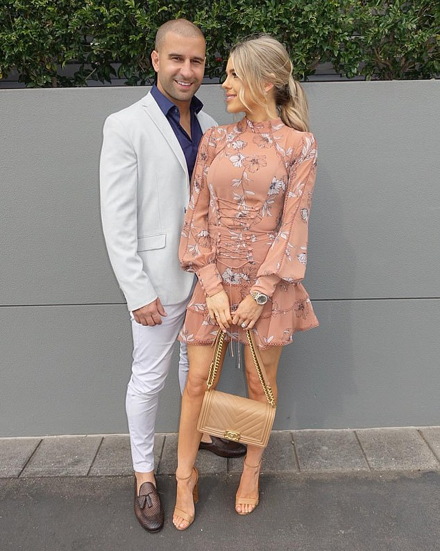 Pictured: Elie and Emily Douna. The mother-of-three posts photos on Instagram showing lavish holidays, first class tickets, designer clothes and luxury homes