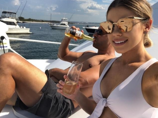 Ms Douna (pictured with her husband) regularly posts pictures showing her lavish lifestyle