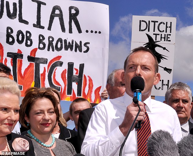 'Ditch the Witch' was the slogan written across a placard that was waved during a protest against the controversial carbon tax in 2011