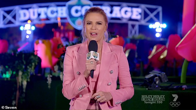 Host: The show, hosted by Sonia Kruger, brought together 'the most skilled' mini golfers from across Australia for a series of challenging one-on-one battles