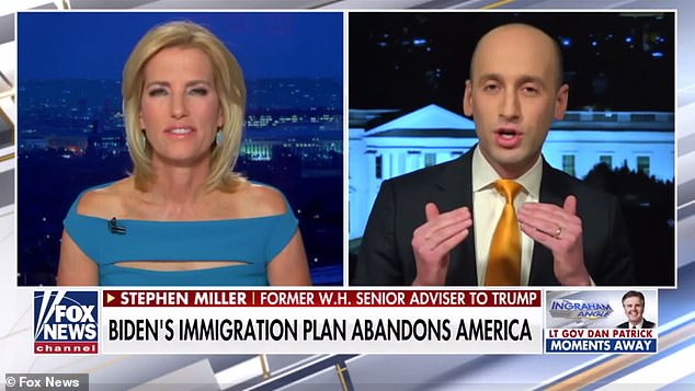 Miller, right, said that 'the most insane thing' in the bill is that it would allow illegal aliens deported by the Trump administration to reapply for citizenship