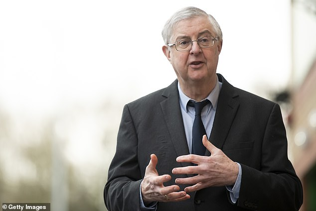 First Minister Mark Drakeford will today announce there will be no further significant changes to the country's level four restrictions - which have been in place since December 20 - as stay-at-home rules are extended once again. Pictured: Drakeford