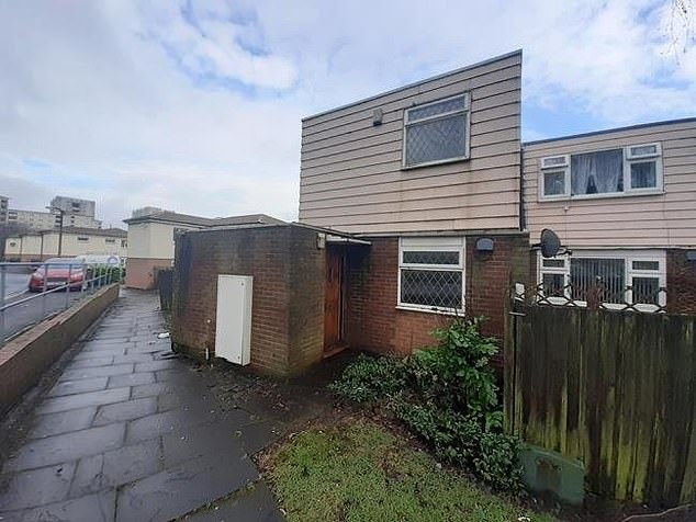 From the outside, the three-bedroom end-terrace house in Bradford barely shows the signs of how much work owners will have to carry out to wake it a home