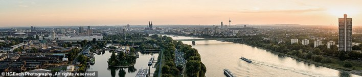 The first-ever panoramic camera was built by Friedrich von Marten in 1845 and named the Megaskop-Kamera. This mesmerisingEsch image shows Cologne