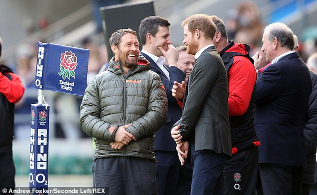 Pictured: The Duke of Sussex with Jonny Wilkinson during the Six Nations in February 2018