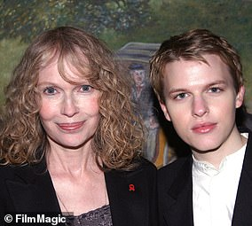 Ronan Farrow and Mia Farrow pictured in New York City in an undated photo