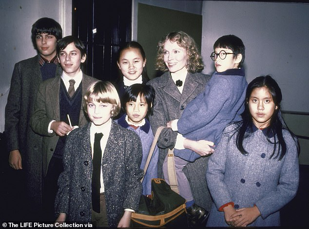Mia Farrow's life has been fraught with drama and tragedy including the deaths of three of her 14 children - one from suicide and another from HIV. She had four biological children and adopted the rest