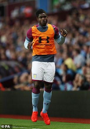 Richards struggled for minutes at Villa Park