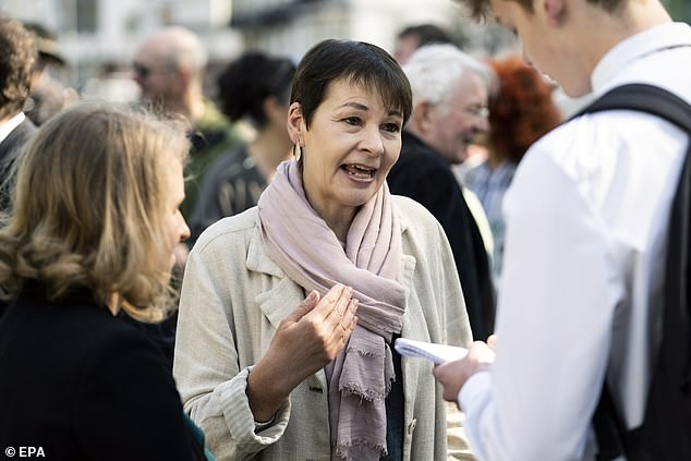 At a hearing earlier this month, the Good Law Project and three MPs - Labour's Debbie Abrahams, the Green Party's Caroline Lucas (pictured) and Liberal Democrat Layla Moran - argued there had been a 'dismal' failure by the DHSC to comply with the obligation