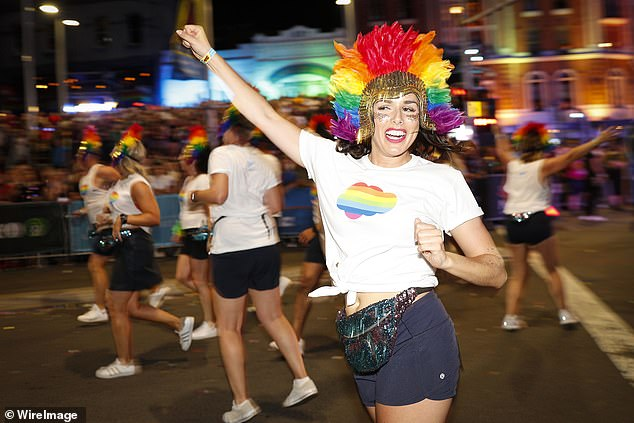 Celebrations will culminate in the 43rd Sydney Gay and Lesbian Mardi Gras Parade on March 6, albeit in a COVID-safe way, this time at the Sydney Cricket Ground (pictured, revellers in 2019)
