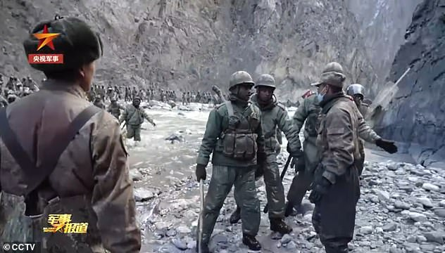 The official channel claimed that the clip showed an Indian army 'several times the size of the Chinese side' launching a violent revenge attackafter China attempted talk to them peacefully